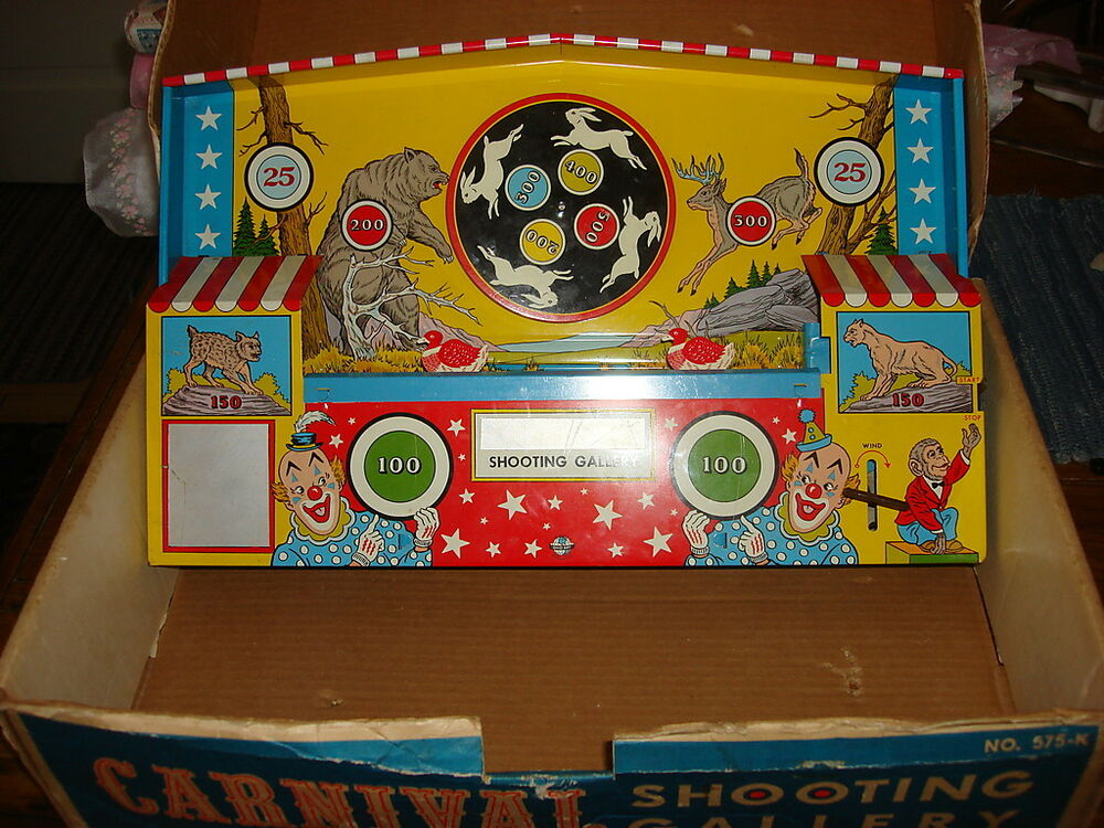 Carnival Toy Box Pink: Vintage Ohio Art CARNIVAL SHOOTING GALLERY IN BOX #575-K