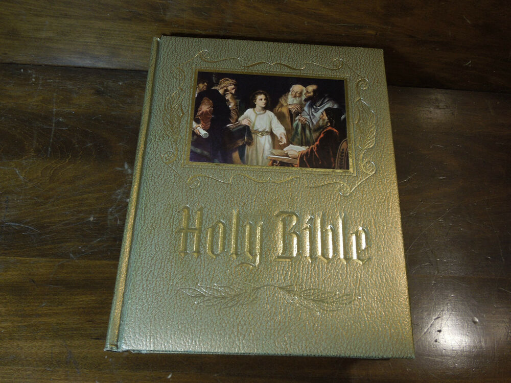Vintage 1964 Holy Bible Old and New Testaments Red Letter Edition Heirloom
