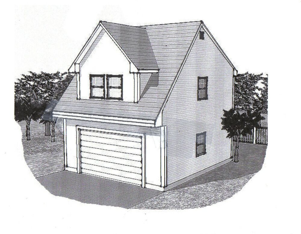 22x24 2 car carriage garage style a building blueprint for Carriage house plans cost to build