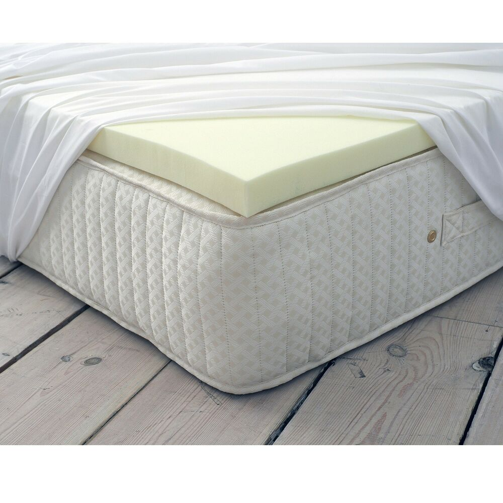 memory foam mattress soft topper zip up ebay. Black Bedroom Furniture Sets. Home Design Ideas