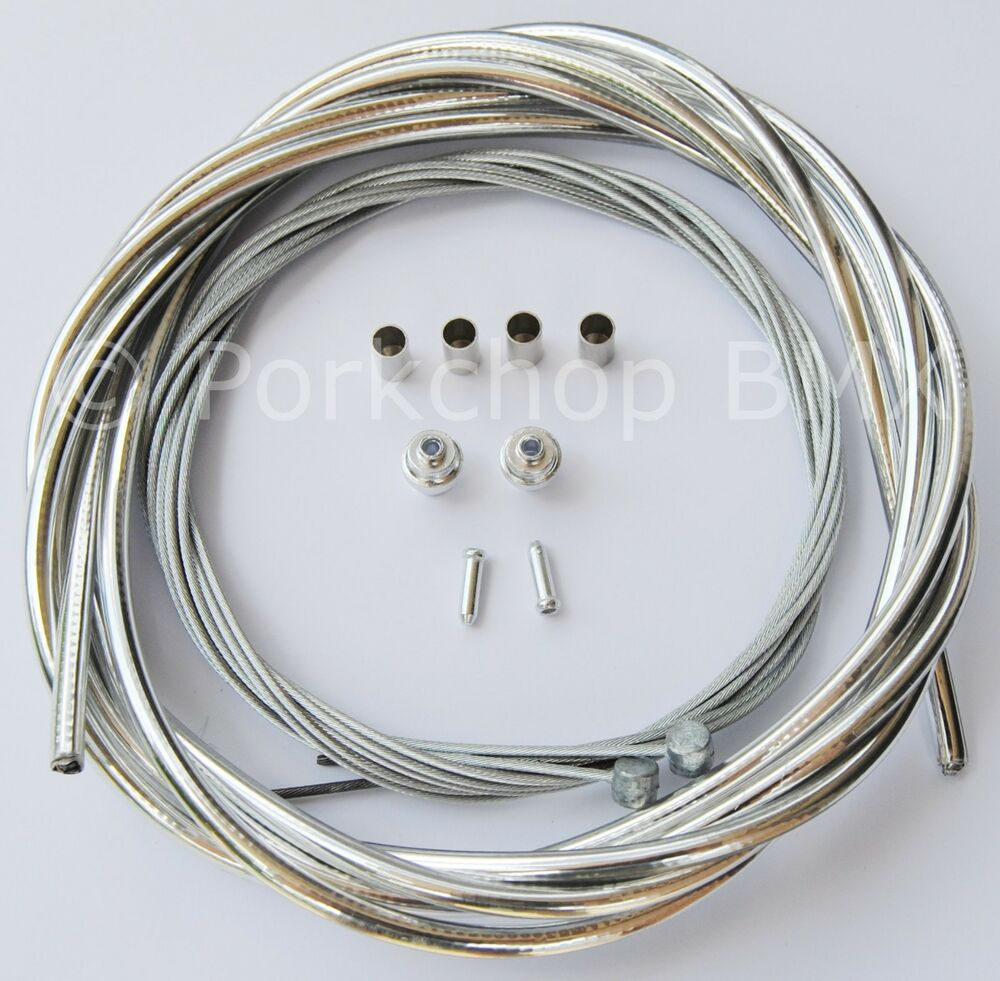 Bicycle 5mm Lined Brake Cable Housing And Hardware Kit Bmx