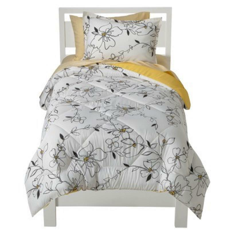 New Room Essential Sketch Floral Xl Twin Bedding Set