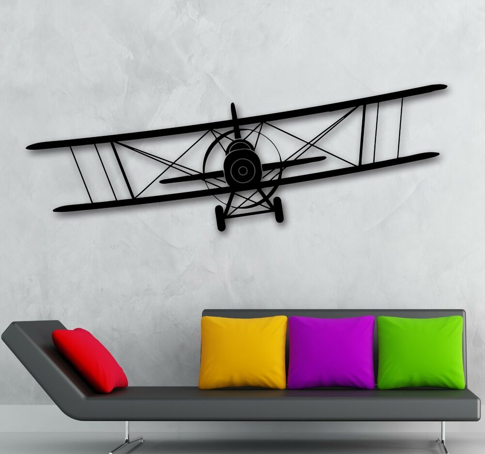 Wall stickers vinyl decal aircraft aviation sky air for for Airplane cockpit wall mural