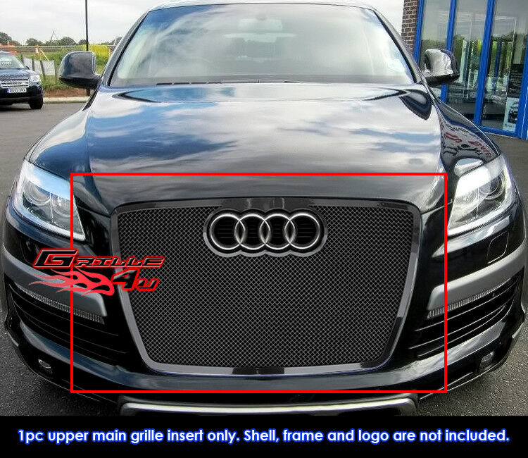 fits audi q7 stainless steel black mesh grille grill. Black Bedroom Furniture Sets. Home Design Ideas