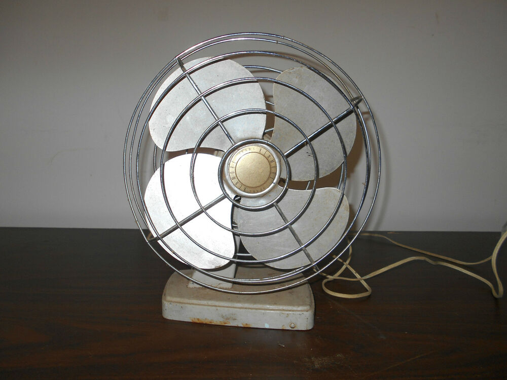 Fan In A Can : Vintage table fan can be hung on wall from sears roebuck