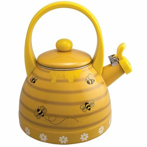Novelty Tea Kettles ~ Bee hive honey comb whistling tea kettle stainless steal