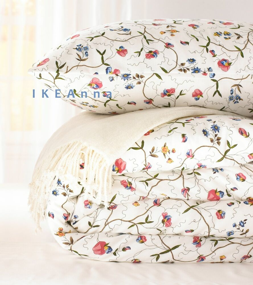 ikea alvine orter duvet quilt cover full queen king twin french floral new ebay. Black Bedroom Furniture Sets. Home Design Ideas