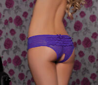 SEXY PURPLE OPEN CROTCH CROTCHLESS KNICKERS PANTIES BRIEFS LINGERIE GIFT IDEA