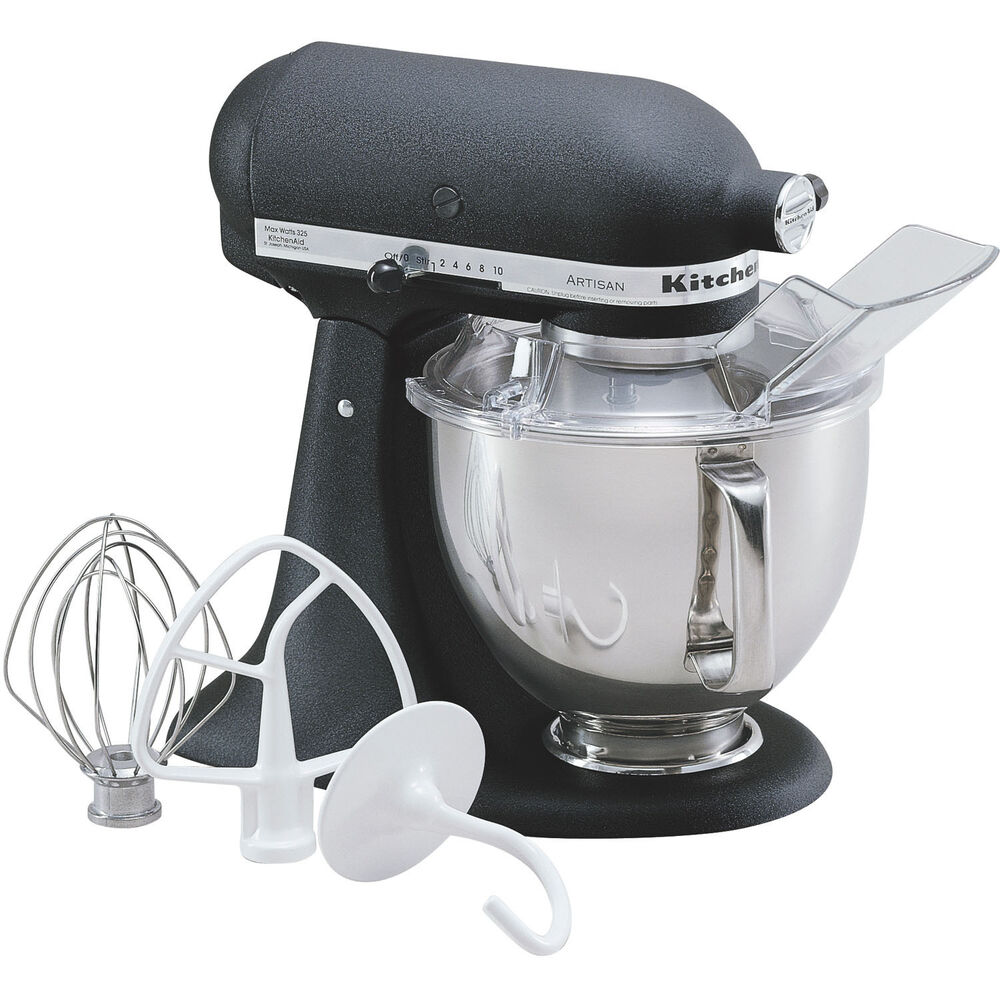 kitchenaid imperial black artisan 5 quart tilt head stand mixer ksm150psbk 50946895505 ebay. Black Bedroom Furniture Sets. Home Design Ideas