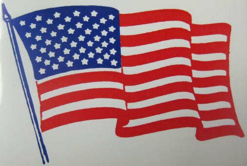 3panel american usa united states of america flag canvas american flag sticker 50 on the flag usa 308