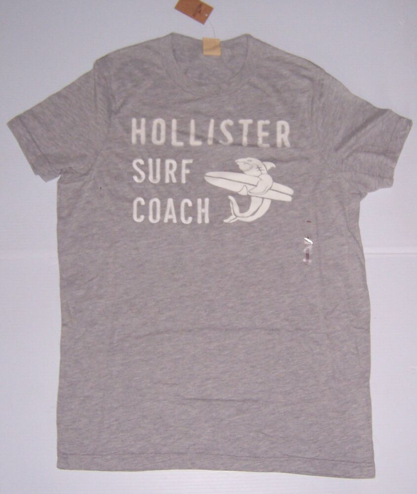 Hollister By Abercrombie & Fitch Men's Gray Surf Coach T