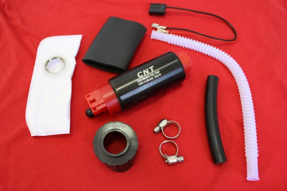 cnt e85 ready fuel pump 255lph with installation kit 340. Black Bedroom Furniture Sets. Home Design Ideas