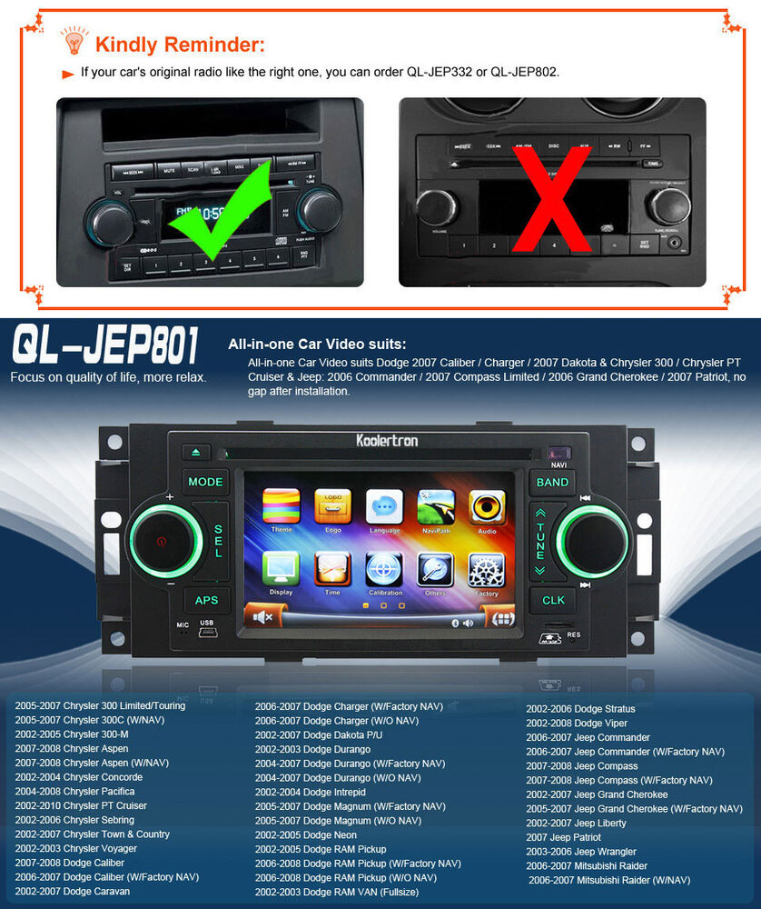 us autoradio gps navigation dvd for dodge durango chrysler sebring jeep compass ebay. Black Bedroom Furniture Sets. Home Design Ideas
