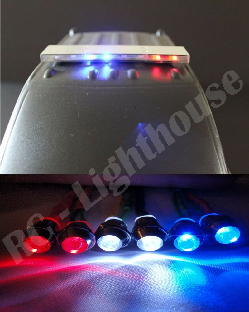 Rc 1 10 Scale Police Led Light Bar Kit Pl 4 With