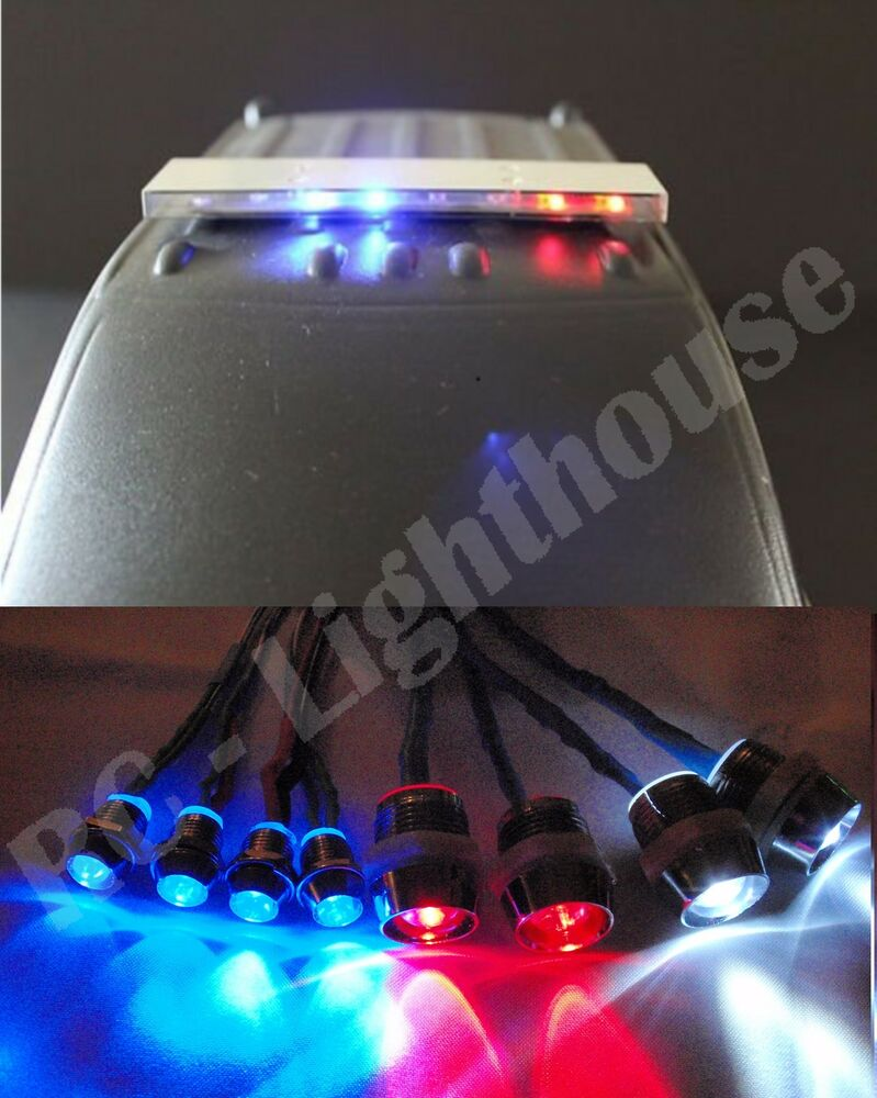 Rc 1 10 Scale Police Led Light Bar Kit Pl 6 With