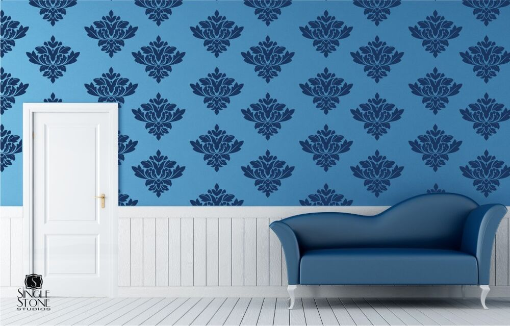 One 1 Baroque Pattern Wall Decal Vinyl Sticker Art eBay
