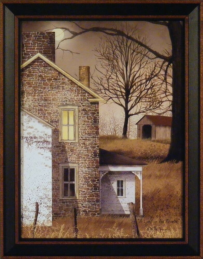 A Light In The Window By Billy Jacobs 15x19 Framed Art