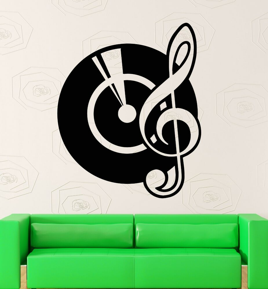 Cool Music Wall Decor : Wall stickers vinyl decal records music notes dj
