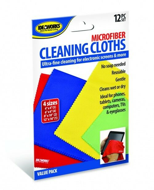 Microfiber Cloth Phone: 12 Microfiber Cleaning Cloths Electronic Screens Cameras