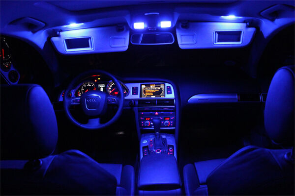 smd led innenraumbeleuchtung mazda 6 gh 6 leds xenon blau ebay. Black Bedroom Furniture Sets. Home Design Ideas