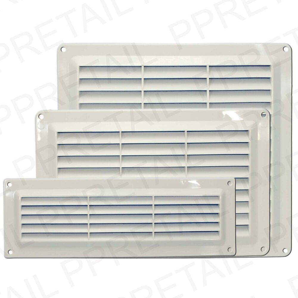 WHITE LOUVRE AIR VENTS Small Large Ventilation Ducting Brick Wall Grille Cove