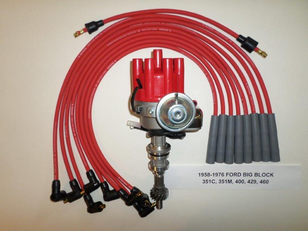 ford 351c-400m-429-460 red electronic small cap hei