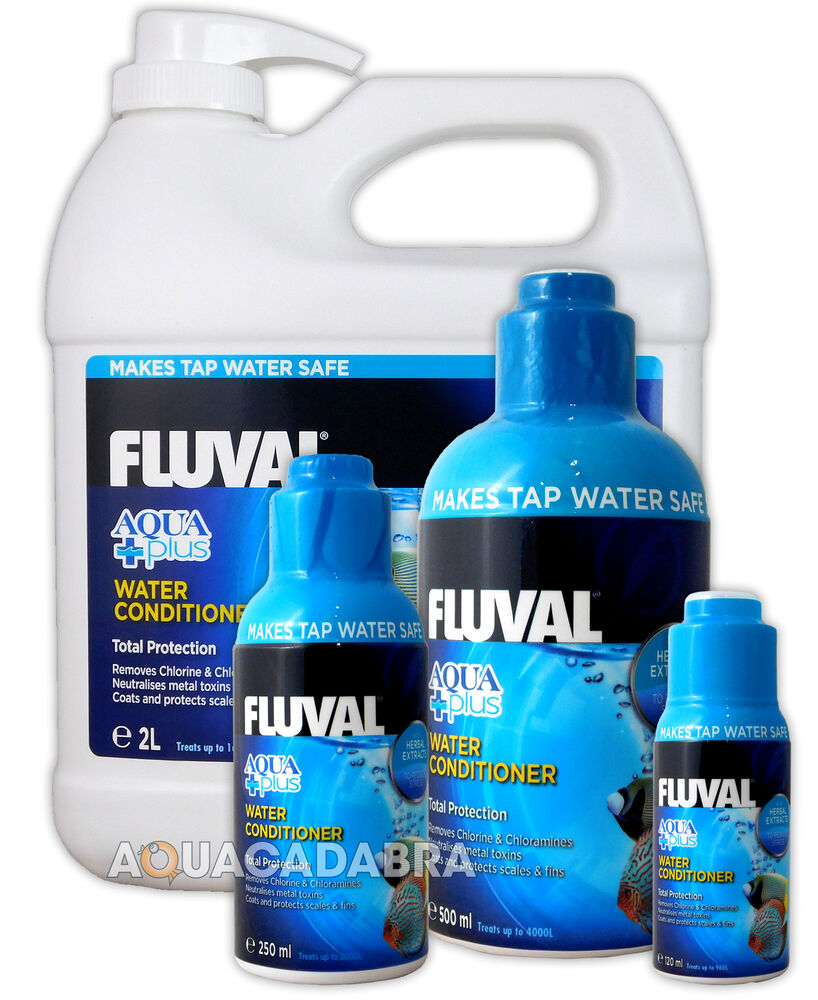 Fluval aquaplus water conditioner new fish tank tap safe for How to make tap water safe for fish