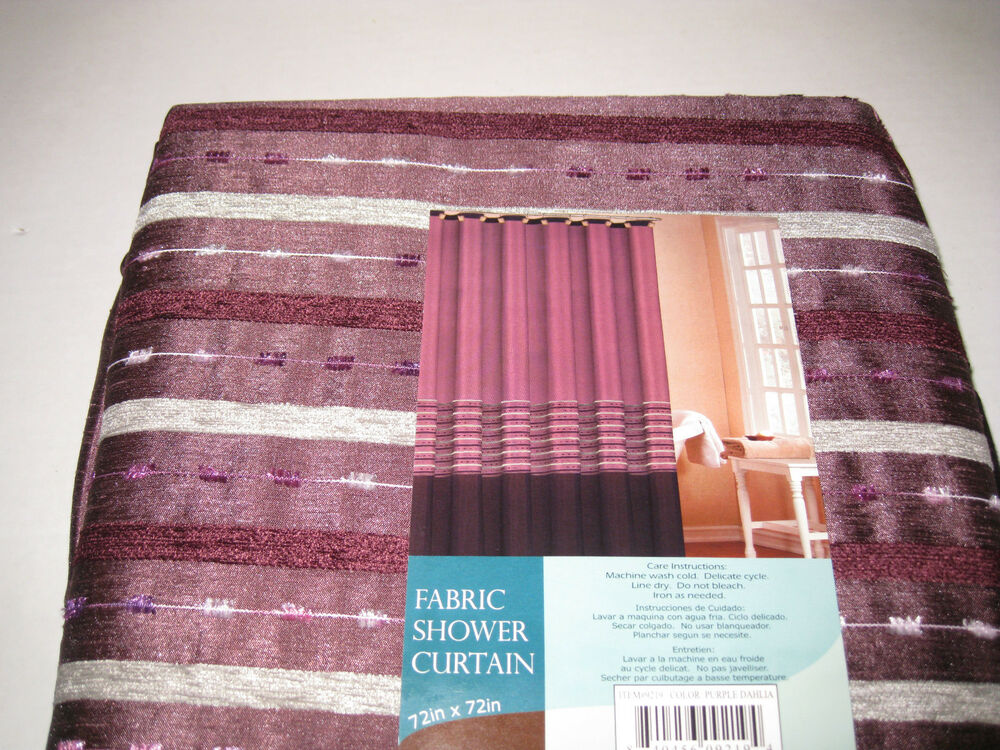 Cityscape Duck Textile Purple Grey Striped Chenille Fabric ...