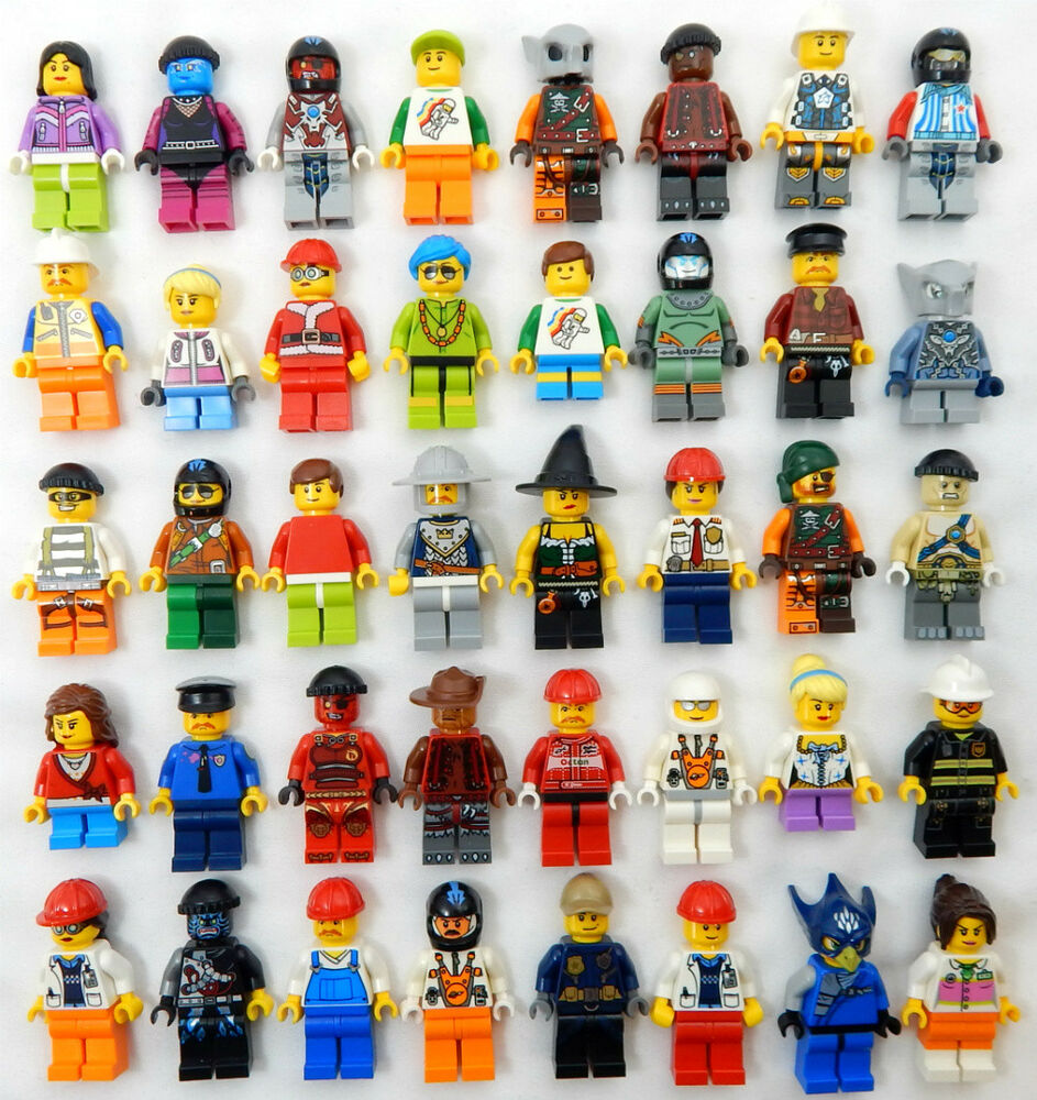 Coolest Hat Ever >> 10 NEW LEGO MINIFIG PEOPLE LOT random grab bag of minifigure guys city town set | eBay