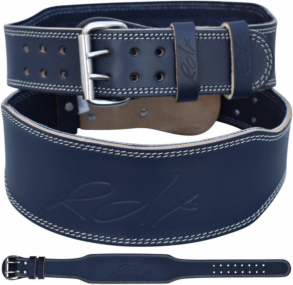 """Fitness Lifting Belt: RDX Weight Lifting 4"""" Leather Gym Belt Back Support Strap"""