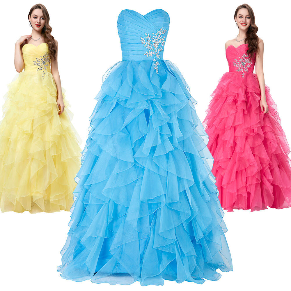Princess formal long prom bridesmaid dresses evening party for Ebay wedding bridesmaid dresses
