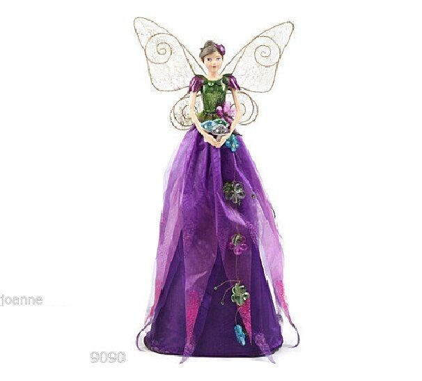 Gisela Graham Christmas Tree Topper: GISELA GRAHAM 50cm ENCHANTMENT FAIRY CHRISTMAS ANGEL TREE