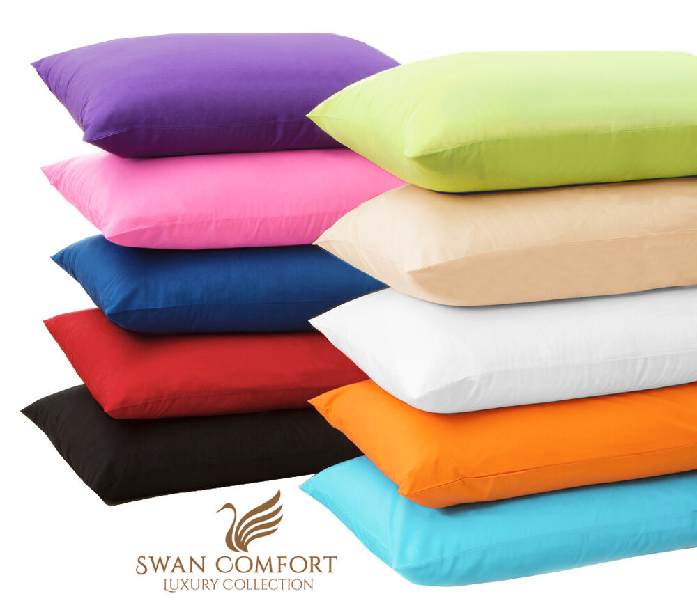 2 pc luxury pillow case set standard 20x30 king 20x40 cover microfbr pillowcases ebay. Black Bedroom Furniture Sets. Home Design Ideas