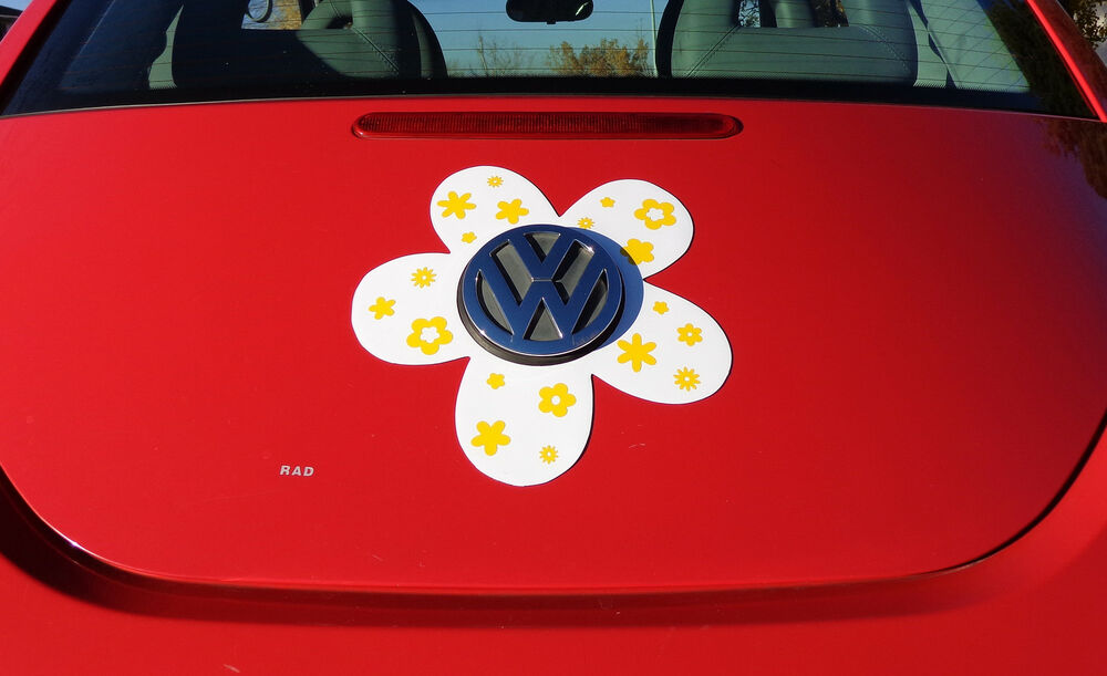 vw beetle flower magnetic decal yellow flowers ebay
