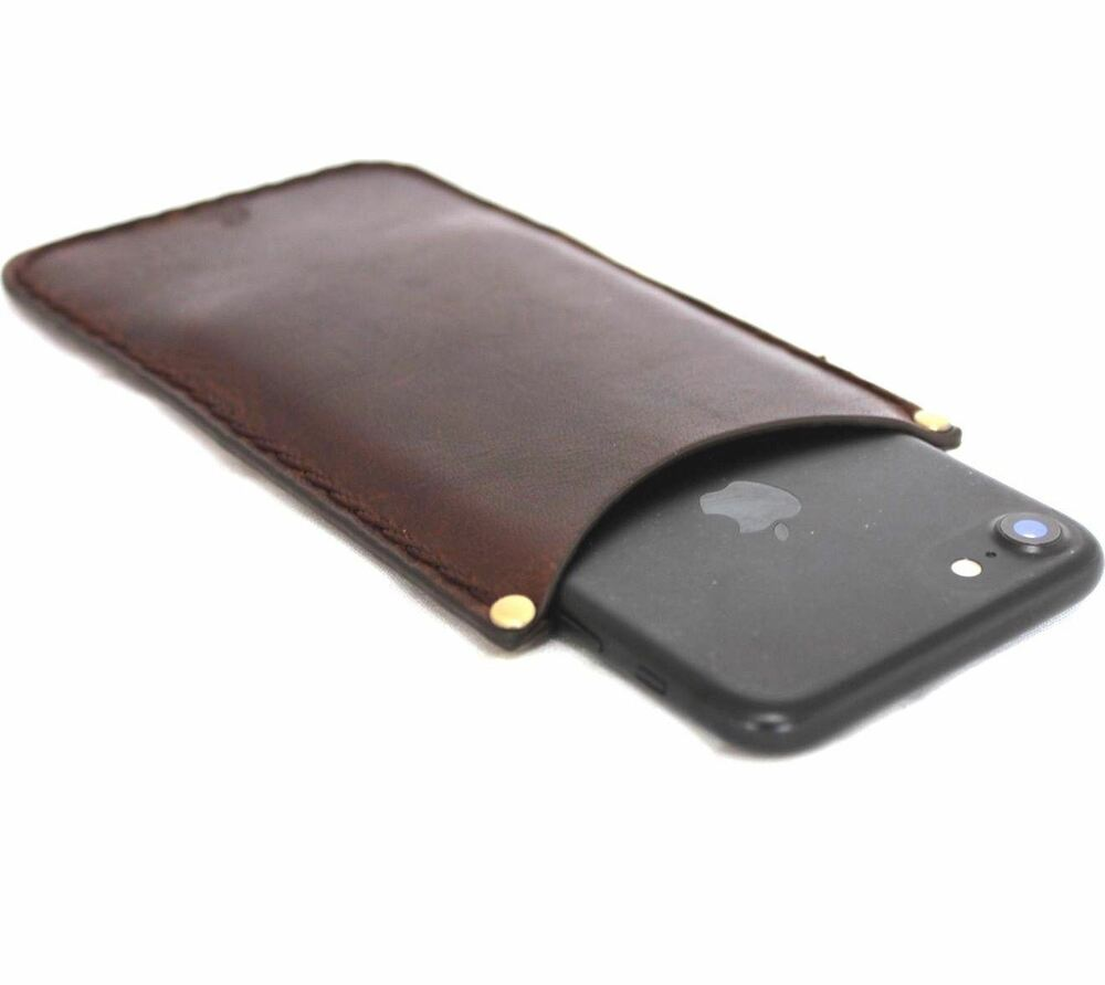 Genuine leather case for iphone 5s se book wallet cover pouch 4s 4 handmade id ebay - Iphone 5s leather case ...
