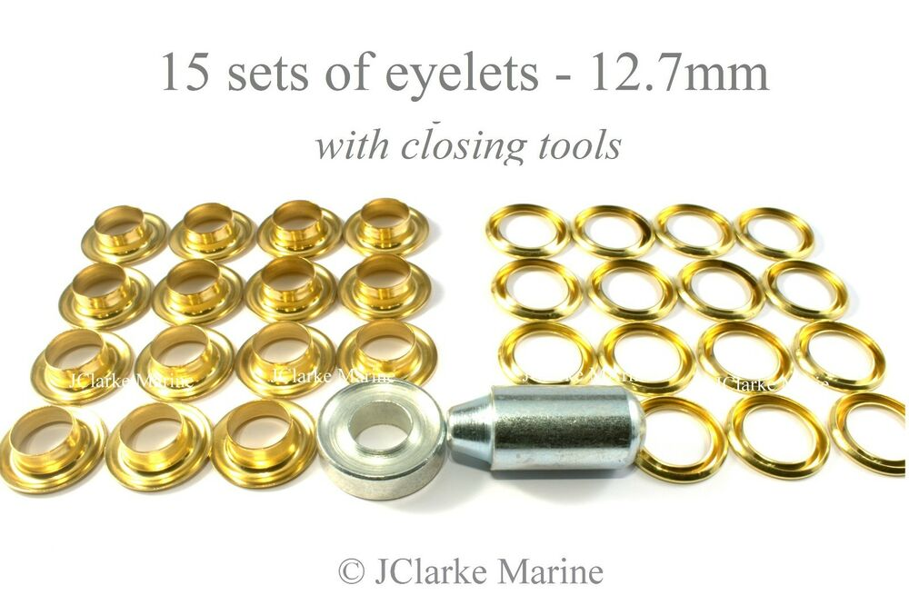 Boats Parts & Maintenance Eyelet kit 9 5mm with tools brass