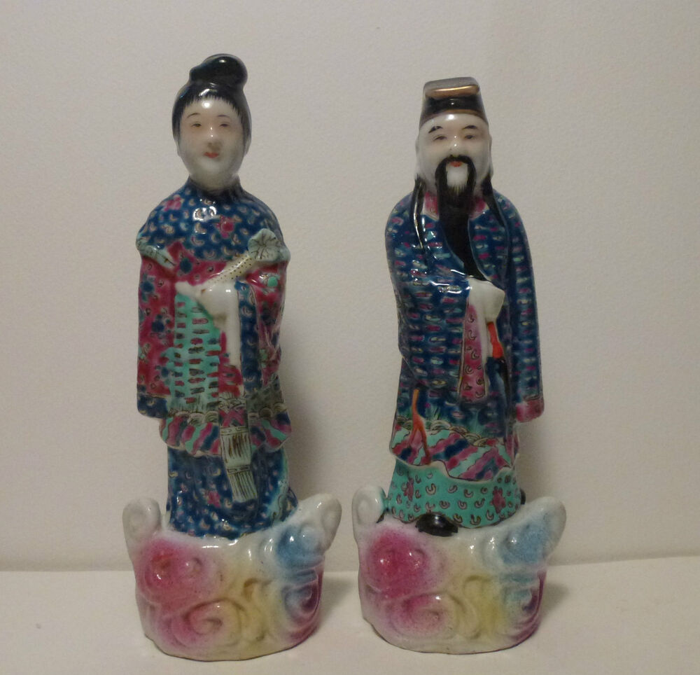 Asian porcelain figurine symbols mine