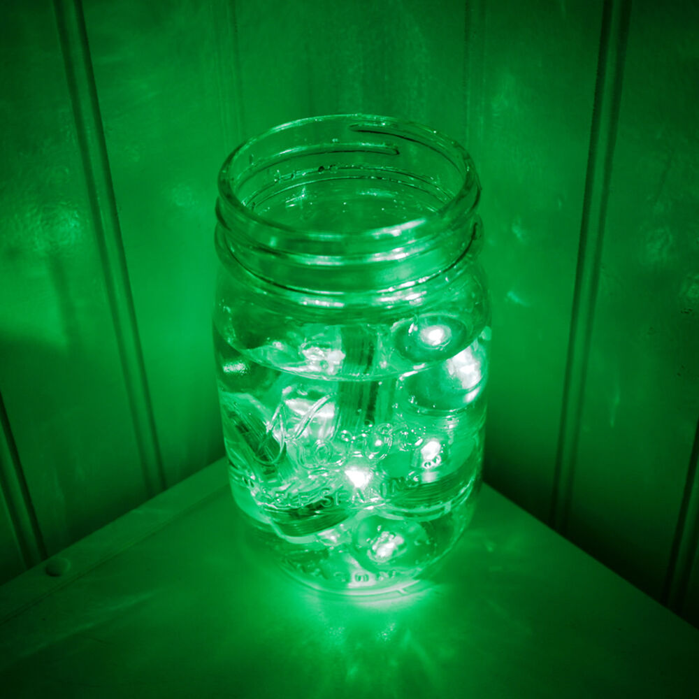 Qty 24 Green Led Submersible Underwater Tea Lights