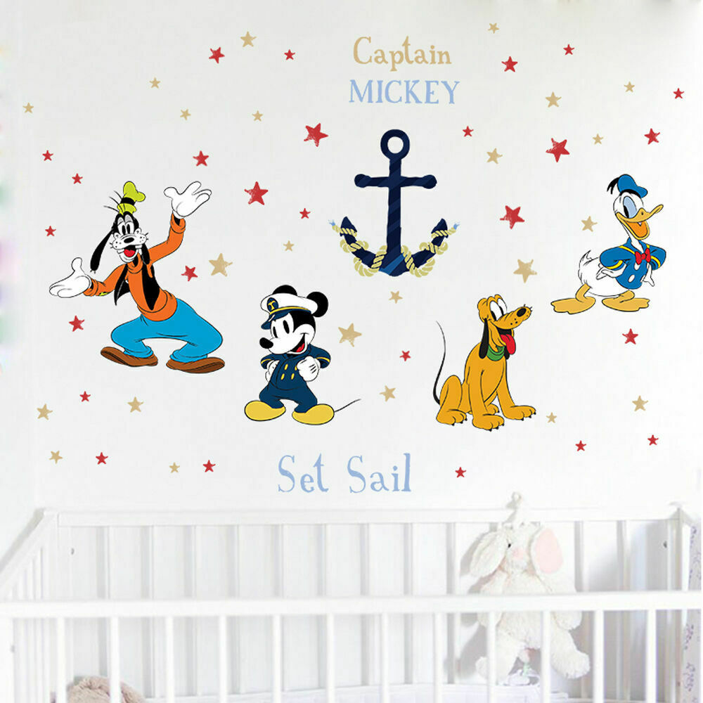 Captain Mickey Mouse Goofy Donald Duck Anchor Wall