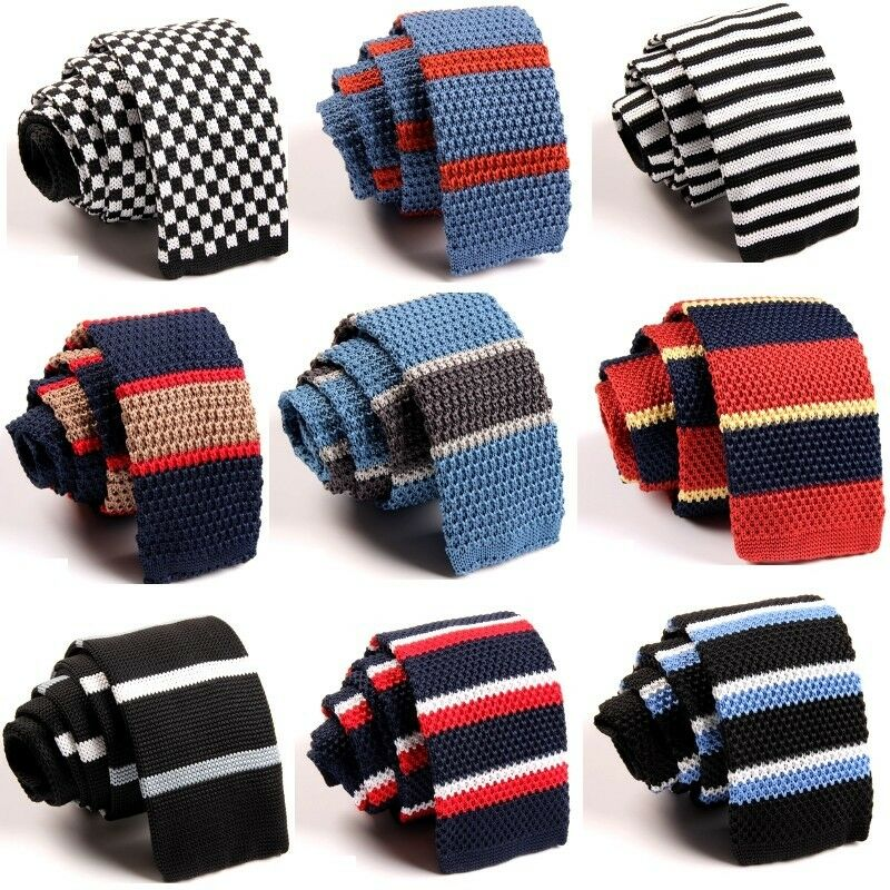 Fashion Mens Colourful Tie Knit Knitted Tie Necktie ...