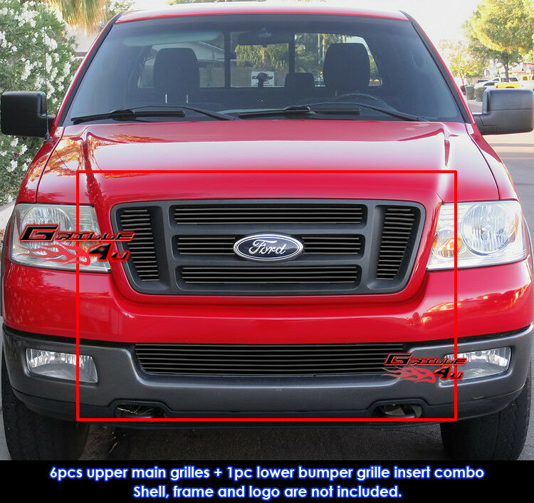 Fits 2004 2008 Chrysler Crossfire Billet Grille Grill: Fits Ford F-150 Bar Style Black Billet Grill Insert Combo