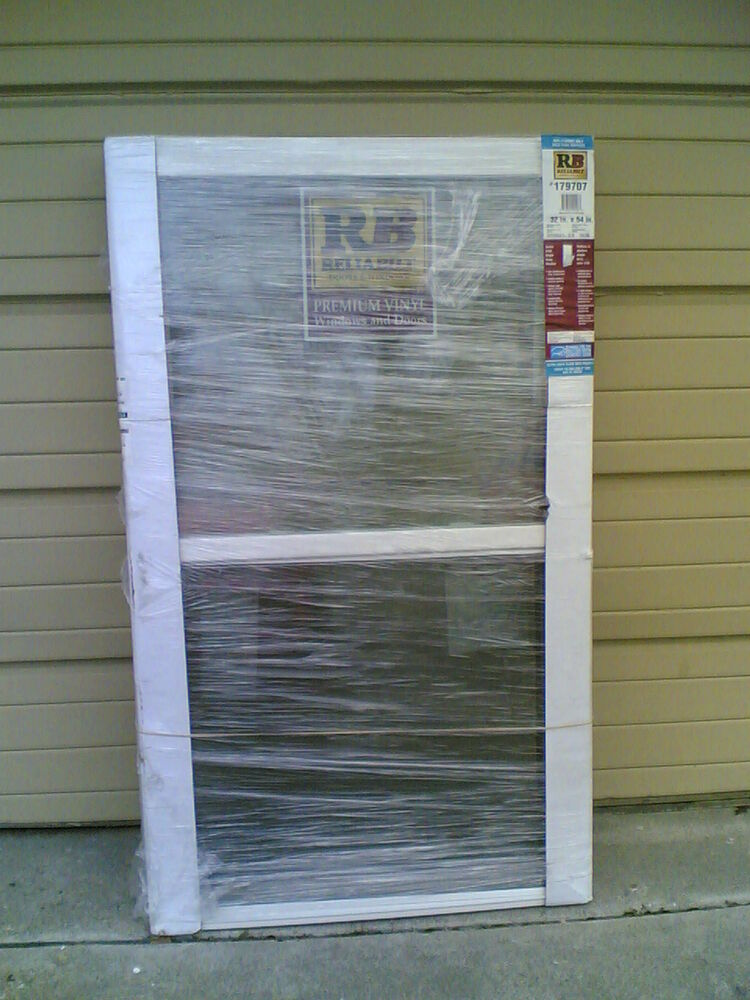 Brand new nice white vinyl house single hung window 32x54 for House window brands