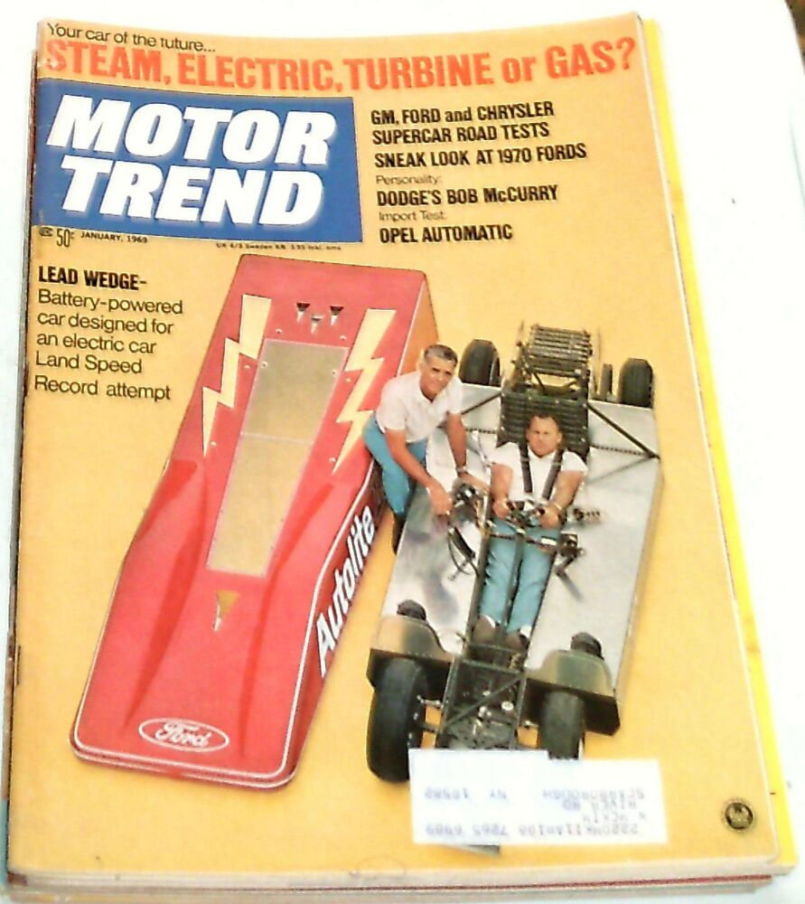 1969 motor trend magazine january issue ebay. Black Bedroom Furniture Sets. Home Design Ideas