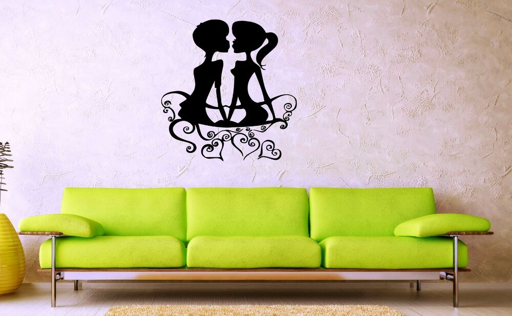 Wall Stickers Vinyl Decal Couple in Love Romantic Bedroom ...
