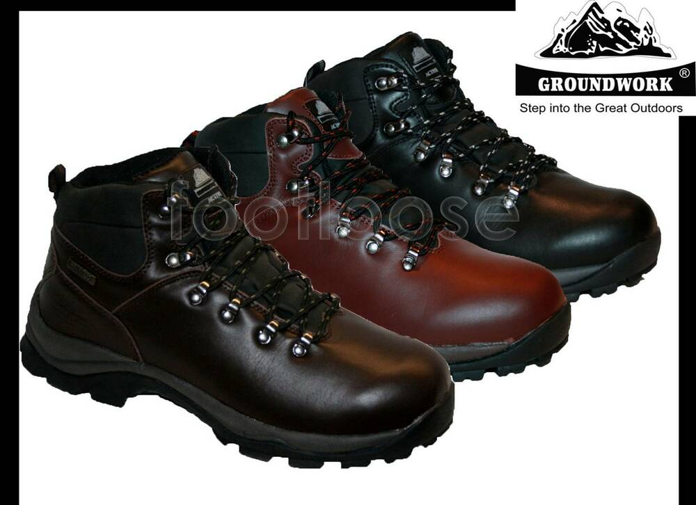 Mens Boots Waterproof Men Work Boots Shoes Hiking
