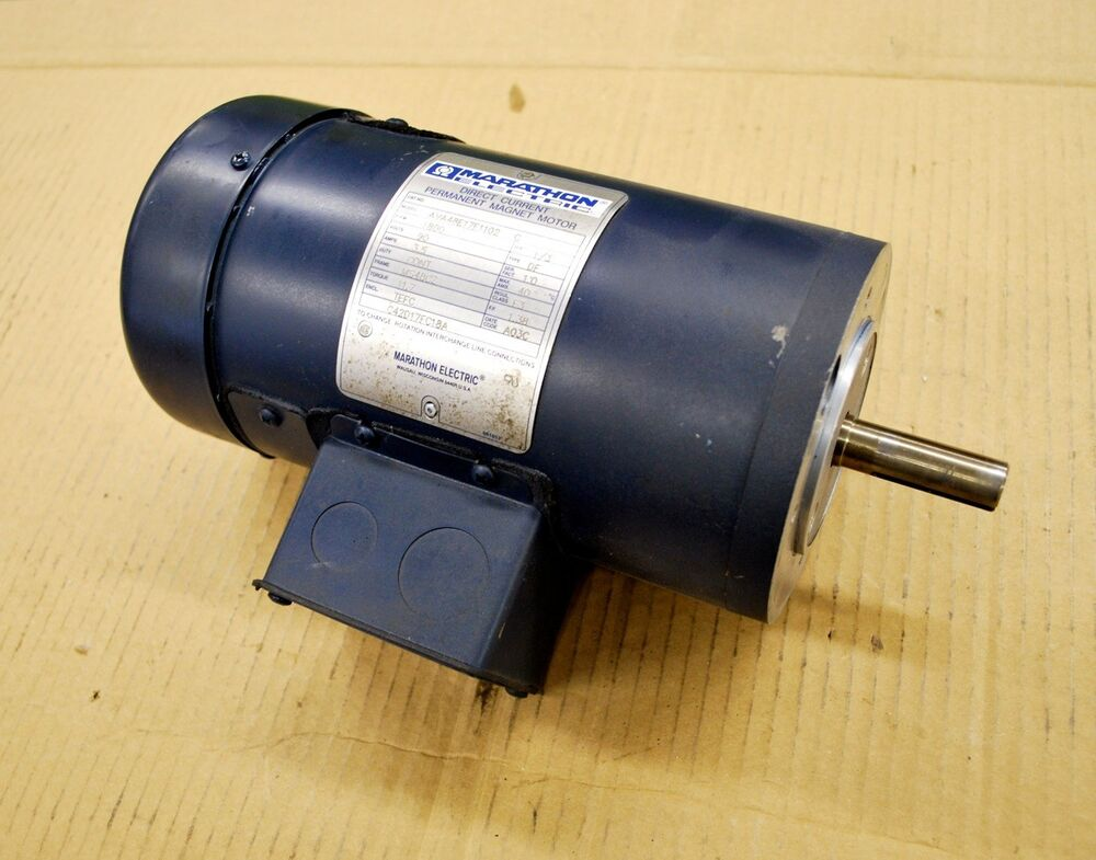 Marathon electric ava48e17f1102 c direct current permanent for What is a permanent magnet motor