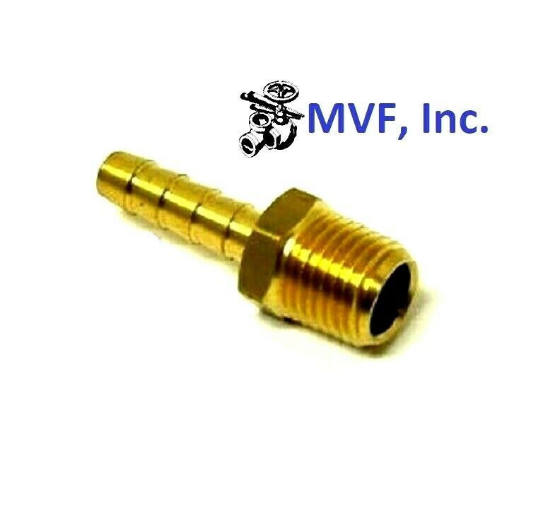 Hose barb for quot id male npt hex body brass