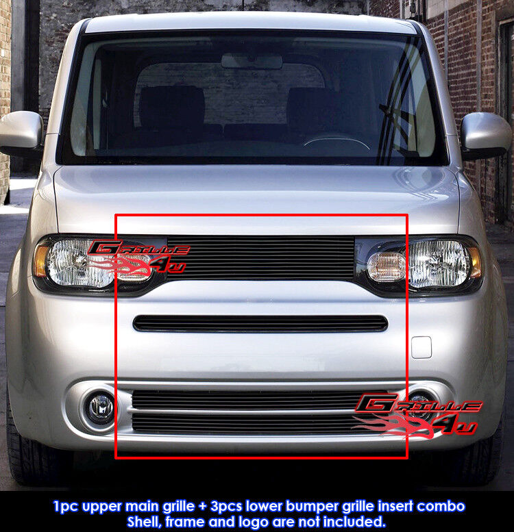 fits nissan cube black billet grill combo 09 14 ebay. Black Bedroom Furniture Sets. Home Design Ideas