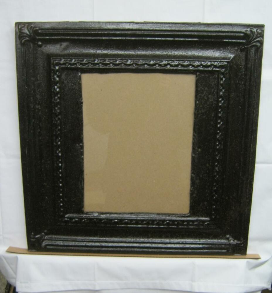 antique tin ceiling metal 11x14 rust picture frame