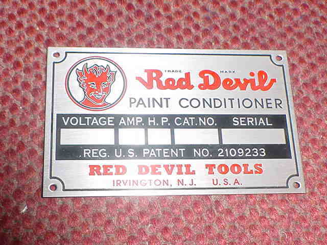 Red Devil Acid Etched Aluminum Paint Conditioner Data Name